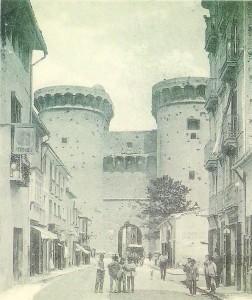 Las torres en 1900