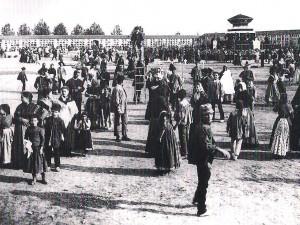 Panorámica del cementerio en 1888.